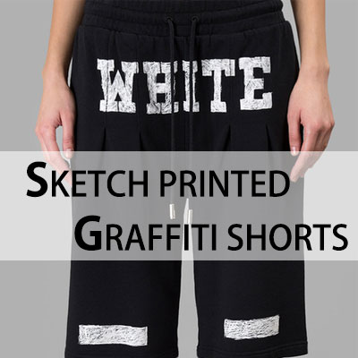 OFF st. SKETCH PRINTED GRAFFITI SHORTS(UNISEX)/ハーフパンツ-
