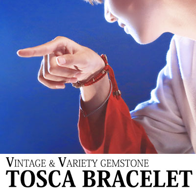 BTS st. トスカブレスレットVINTAGE&VARIETY GEMSTONE TOSCA BRACELET(BLACK,BLUE,RED)/ブレスレット