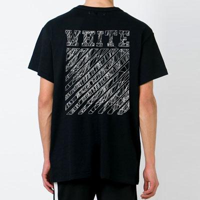 ★男女兼用★スタイリッシュ!クラックドローイング半袖Tシャツ(BLACK,WHITE)