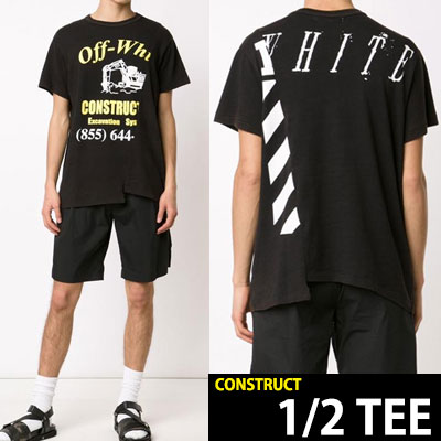背中のロゴまでユニーク!CONSTRUCTロゴ半袖Tシャツ(BLACK,GREY)