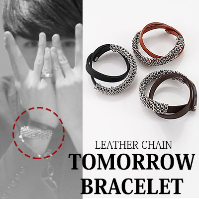 BTOB st. レザーチェーンTOMORROW BRACELET/ブレスレット(DARK-BROWN,CAMEL,BLACK)