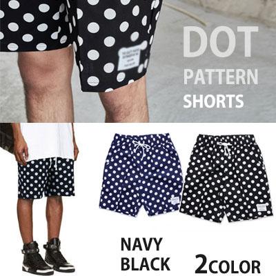 夏のクールファッション!ビッグドットショーツBIG DOT SHORTS(NAVY,BLACK)
