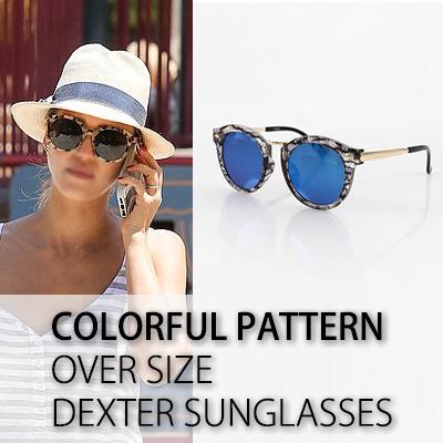 カラフルなパターンのオーバーサイズ DEXTER SUNGLASSES/サングラス