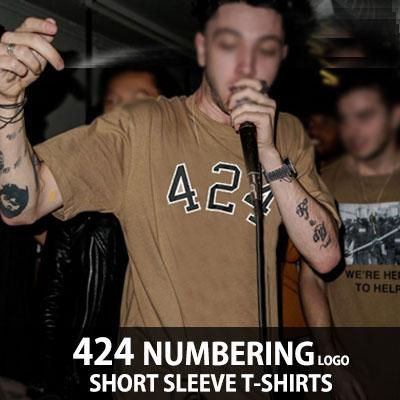 (男女兼用)424ナンバーリングロゴ半袖Tシャツ