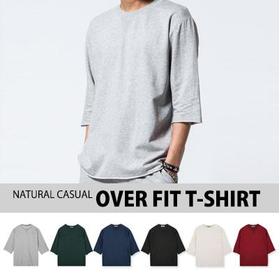 [BASIC SIMPLE LINE]ナチュラルでカジュアルなオーバーフィットTシャツ