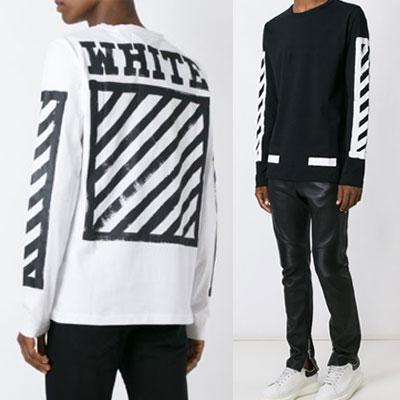 筆で描いたようなデザインが魅力的!スクエアフレームシグネチャーラインTシャツ