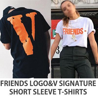 [V]ロゴシリーズ!フレンズロゴ&Vシグネチャー半袖Tシャツ