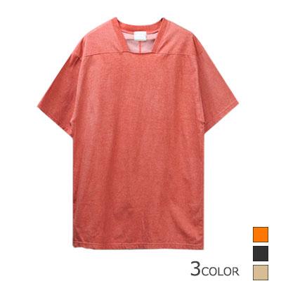 ナチュラルなカラーのTシャツ!ピグメントカラースクエアネック半袖Tシャツ