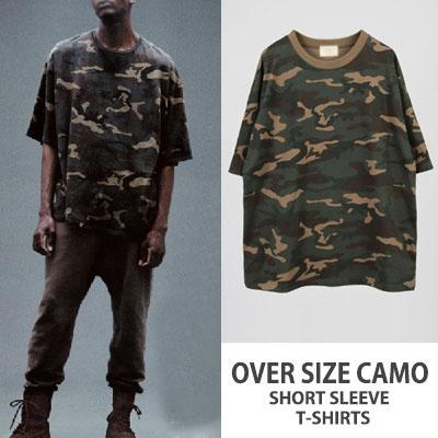 海外セレブに愛され続けるアイテム!オーバーサイズカモスタイル半袖Tシャツ