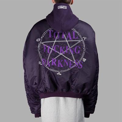 マジックサークル&オールドイングリッシュロゴオーバーサイズMA-1ジャケット