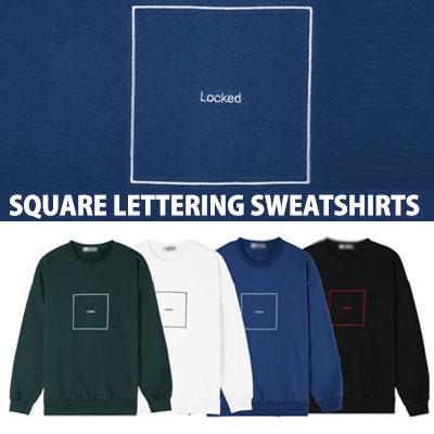 [BASIC SIMPLE LINE]スクエアレタリングスウェットシャツ