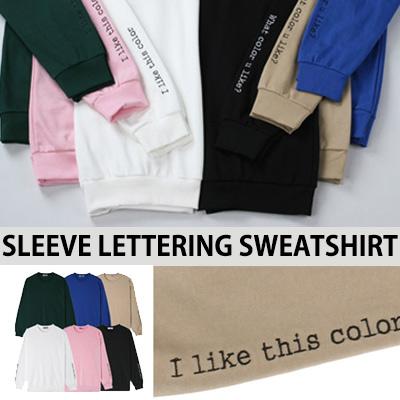 [BASIC SIMPLE LINE] スリーブレタリングスウェットシャツ