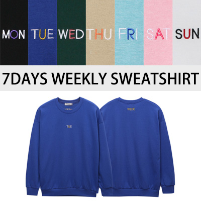 [BASIC SIMPLE LINE]7デイズウィークリースウェットシャツ