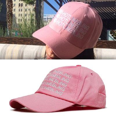 かわいいベビーピンクのボールキャップ!ホットラインブリングベビーピンクボールキャップ