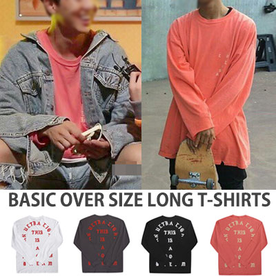 選べる4色!オーバーフィットサイズ!ベーシックオーバーサイズロングTシャツ