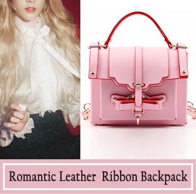 「オーダーメイド」★牛革★女性らしいリボンがポイント!ロマンチックレザーリボンバッグ