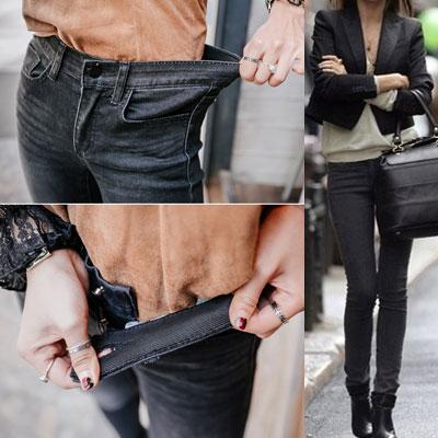 [VENETA]どんな上着でもお似合い!アエルバンディングブラックジーンズ
