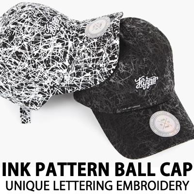 インクパターンボールキャップユニークレタリング刺繍