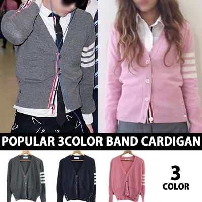G-DRAGON,SANDARA PARK,韓国俳優のスタイル!人気の3カラーのバンドカーディガン