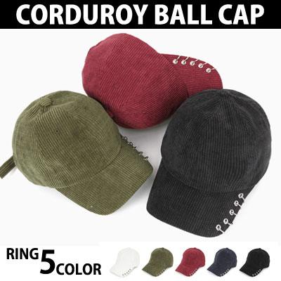 新!リングシリーズ登場!コーデュロイ5リング5カラーのボールキャップ
