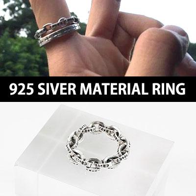 925シルバーケーブル素材のリング/ K-POPアイドルVIXXレオスタイル