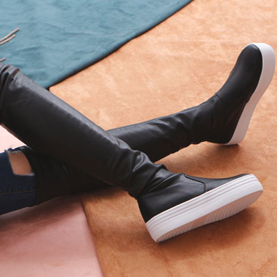 [RANG SHE]厚底ブーツ/サイハイブーツ/THIGH HIGH BOOTS/2ne1 SANDARA