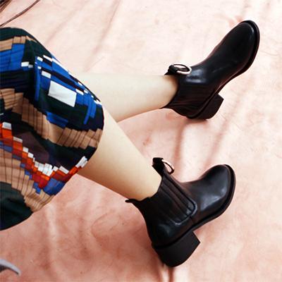 [RANG SHE] リングチェルシーブーツ/女性ブーツ