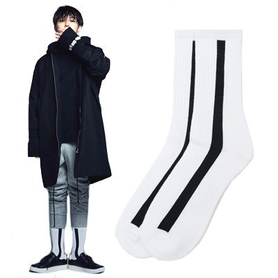 2016 FW [8 X GD's PICK]GDホワイトドラゴン靴下G-Dragon GD G-DRAGONコラボ 8SECONDS