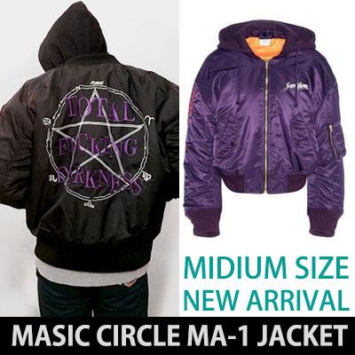 ★女性(M)サイズ追加★マジックサークル&スターロゴMA-1ボンバージャケット/ BLACK、PURPLE