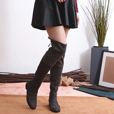 [RANG SHE]*大人気* スカートとジーンズどちらも似合うスエードサイブーツ/SUEDE THIGH BOOTS