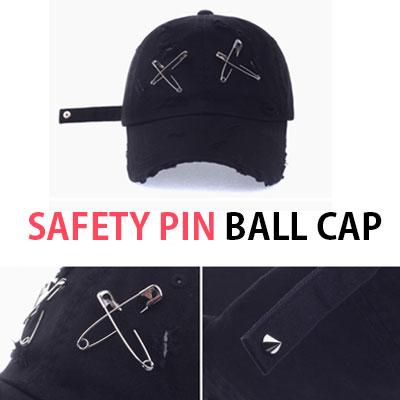 安全ピンビンテージストラップボールキャップ/SAFETY PIN VINTAGE STRAP BALL CAP