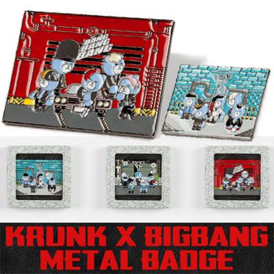 【公式グッズ】KRUNK X BIGBANG METAL BADGE/KRUNK X ビックバンメタルバッジ