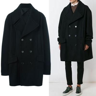 ヒョクオスタイルオーバーサイズクラシックブラックコート