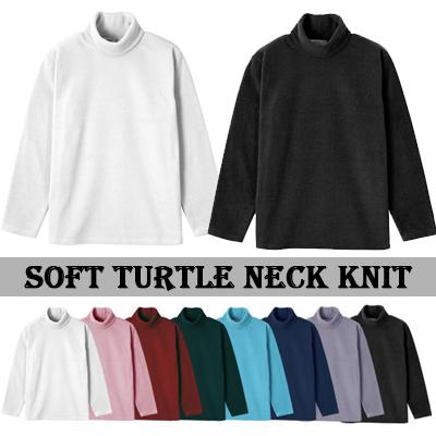 [BASIC SIMPLE LINE]ソフトタートルネックニット/SOFT TURTLE NECK KNIT