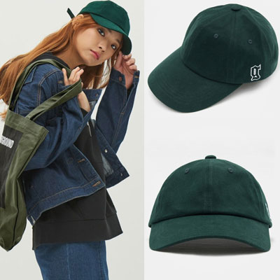 2016 FW [8 X GD's PICK] グリーンイニシャルボールキャップ GD G-DRAGONコラボ 8SECONDS/GREEN INITIAL BALL CAP