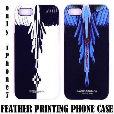 フェザープリンティングフォンケース/スマホカバー/スマホケース/ only iPhone7