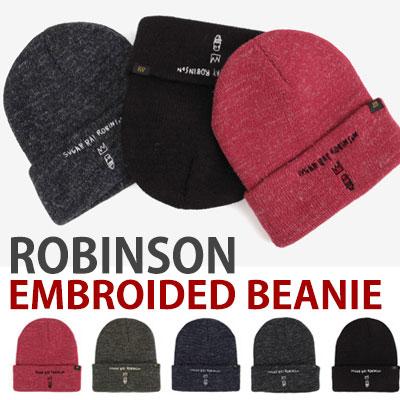 ロビンソンの刺繍のビーニー