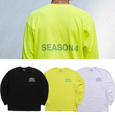 ナンバー4ロゴロングスリーブTシャツ/3カラー