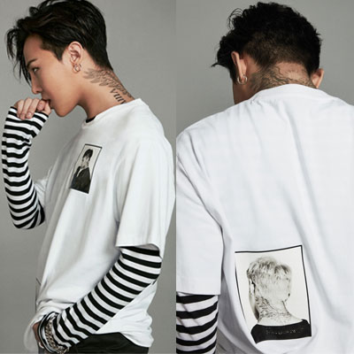 2016 FW[8XG-DRAGON]ホワイトプリントTシャツG-Dragon GDコラボ