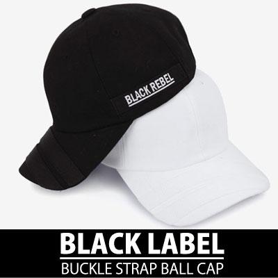 ブラックラベルバックルストラップボールキャップ