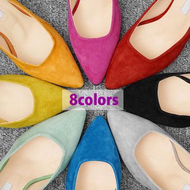 【RANG SHE】★選べる8カラー★春の色たっぶり~!羊革 スティレットヒール(8color)