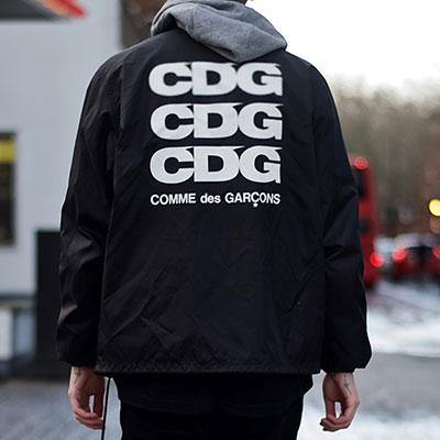 バックロゴポイントブラックワークジャケット