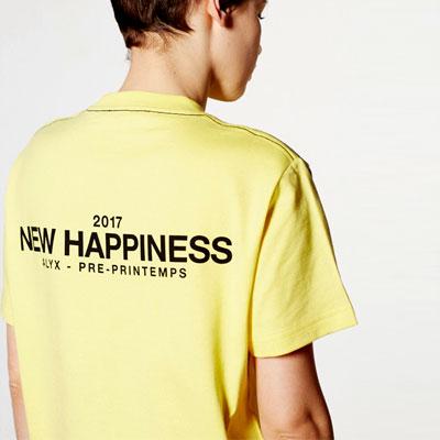 NEW HAPPINESSメッセージショートTシャツ/半袖