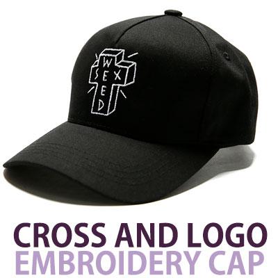 クロス&ロゴ刺繍ボールキャップ