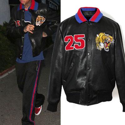 タイガー&ナンバー25レジャージャケット/カラー脱着可能
