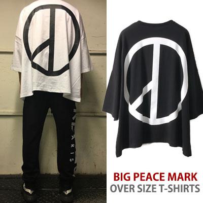 G-DRAGON STYLE! BIGピースマークのオーバーサイズTシャツ/gd/bigbang/fxxk it
