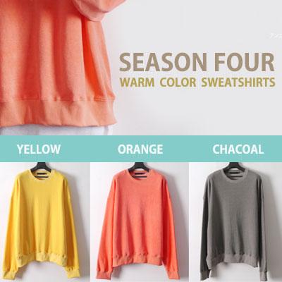 シーズン4暖かい色のスウェットシャツ