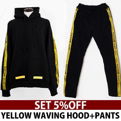 ★再入荷/グレーカラーを追加★[set -5%]ロゴウェイビンラインスウェットシャツ+スウェットパンツ/ジョガーパンツ