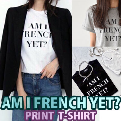 【FEMININE : BLACK LABEL】AM I FRENCH YET プリントTシャツ