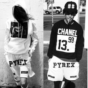 人気ストリートファッション pyrexスタイルメッシュハーフパンツ・ショートパンツ